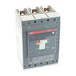 3 pole, 600 amps rated at 600V AC, Tmax molded case circuit breaker with an electronic trip device and 150kA at 480V AC interrupt current rating