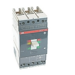 3 pole, 50 amps rated at 600V AC/DC, Tmax molded case circuit breaker with a thermal magnetic trip device and 25kA at 480V AC interrupt current rating