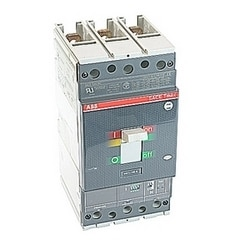 3 pole, 150 amps rated at 600V AC, Tmax molded case circuit breaker with magnetic only (MCP) trip device and 25kA at 480V AC interrupt current rating