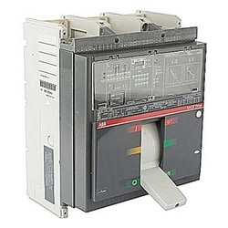3 pole, 1200 amps rated at 600V AC, Tmax molded case circuit breaker with electronic trip 100% rated device and 65kA at 480 V AC interrupt current rating