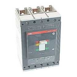 3 pole, 400 amps rated at 600V AC/DC, Tmax molded case circuit breaker, 100% rated with a thermal magnetic trip device and 35kA at 480V AC interrupt current rating