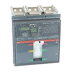3 pole, 1000 amps rated at 600V AC, Tmax molded case breaker, 100% rated with an electronic trip unit, LSI operation, and 65kA at 480V AC interrupt current rating