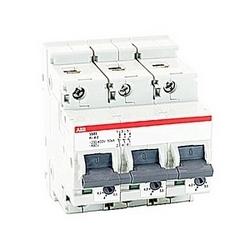 pôle 3, 5,8 ampères évalués à 600 ans/277 V AC, UL 1077 série disjoncteur miniature avec dispositif de déclenchement réglable, courbe de déclenchement K et courant nominal de 30kA interruption
