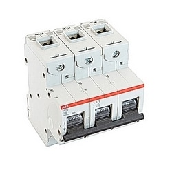 3 pole, 100 amps rated at 690 V AC, IEC series high performance circuit breaker with thermal-magnetic trip device, C trip curve, and 50kA interrupt current rating