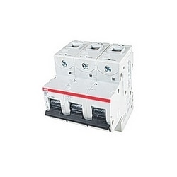 3 pole, S800, 32 amp screw terminated miniature circuit breaker with a D tripping characteristic
