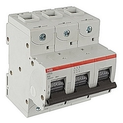 3 pole, S800, 32 amp screw terminated miniature circuit breaker with a B tripping characteristic