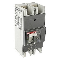 2 pole, 200 amps rated at 240V AC and 250V DC, fixed trip point molded case circuit breaker, with a thermal magnetic trip device and 10kA at 240V AC and 10kA at 250V DC interrupt current rating