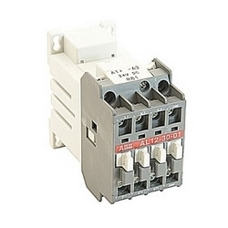 3 pole, 27 amp, non-reversing across the line contactor with 24V DC coil and 1 NC auxiliary contact
