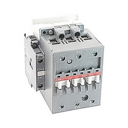 3 pole, 55 amp, non-reversing across the line contactor with 208V AC coil and 1 NO and 1 NC auxiliary contacts