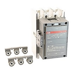 3 pole, 350 amp, non-reversing across the line contactor with 230-240V AC coil and 1 NO and 1 NC auxiliary contacts