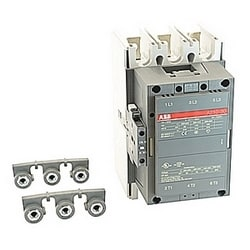 3 pole, 350 amp, non-reversing across the line contactor with 415-440V AC coil and 1 NO and 1 NC auxiliary contacts