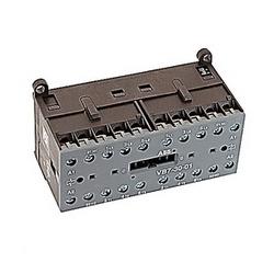 3 pole, plus 2 contacts auxiliaires NC, amp 16, miniature mécaniquement interverrouillés contacteur, bobine AC 110-127V et bornes à vis