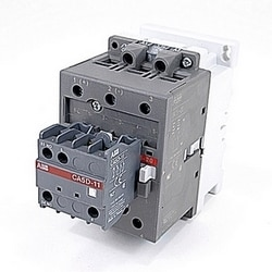 3 pole, 60 amp, non-reversing across the line contactor with 120 V AC coil and 2 NO and 1 NC auxiliary contacts