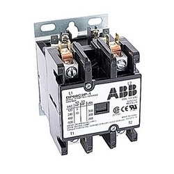 2 pole, 60 amp, non-reversing, definite purpose contactor, 120V AC coil, industry standard mounting plate