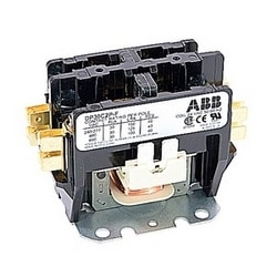 2 pole, 30 amp, non-reversing, definite purpose contactor, 24V AC coil, industry standard mounting plate
