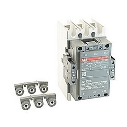 3 pole, 275 amp, non-reversing across the line contactor with 110-120V AC coil and 2 NO and 2 NC auxiliary contacts