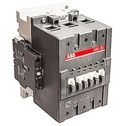 3 pole, 145 amp, non-reversing across the line contactor with 208V AC coil and 1 NO and 1 NC auxiliary contacts