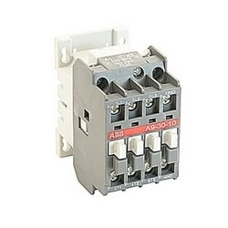 3 pole, 25 amp, non-reversing across the line contactor with 220V AC coil and 1 NO auxiliary contact