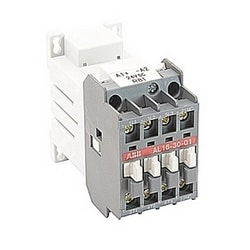 3 pole, 30 amp, non-reversing across the line contactor with 24V DC coil and 1 NC auxiliary contact