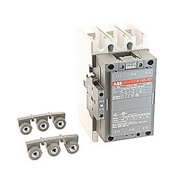 3 pole, 230 amp, non-reversing across the line contactor with 400-415V AC coil and 1 NO and 1 NC auxiliary contacts