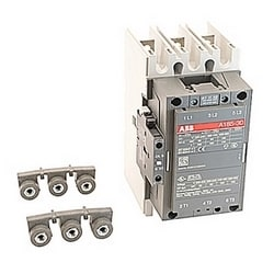 3 pole, 275 amp, non-reversing across the line contactor with 400-415V AC coil and 1 NO and 1 NC auxiliary contacts