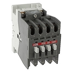 40 amp AC controlled 3 pole ring tongue contactor with a 110-120V AC coil and 1 NO auxiliary contact