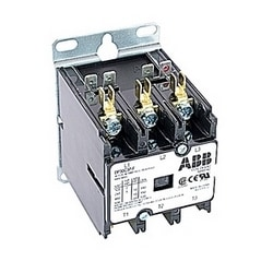 3 pole, 30 amp, non-reversing, definite purpose contactor, 24V AC coil, industry standard mounting plate