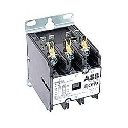 3 pole, 30 amp, non-reversing, definite purpose contactor, 277V AC coil, industry standard mounting plate