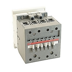 4 pole, 80 amp, non-reversing across the line contactor with 100-250V AC/DC coil and no auxiliary contacts