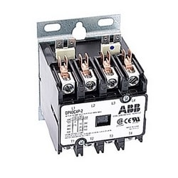 4 pôle amp 40, contacteur de fin définitive, irréversible, bobine AC 208/240V, plaque de montage standard de l'industrie
