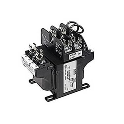 100 VA rating 4 terminal transformer with 4.17/0.87 output amps with a primary fuse block and a secondary fuse clip