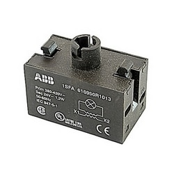 Transformer block for pilot light with 380 to 420V AC primary voltage and 24V AC secondary voltage