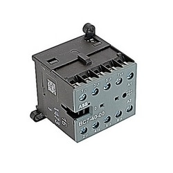 4 pole, amp, miniature contactor for resistive and slightly inductive loads, 12V DC coil and screw terminals