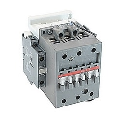 3 pole, 100 amp, non-reversing across the line contactor with 220V DC coil and 1 NO and 1 NC auxiliary contacts