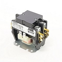 2 pole, 40 amp, non-reversing, definite purpose contactor, 277V AC coil, industry standard mounting plate