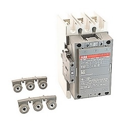 3 pole, 230 amp, non-reversing across the line contactor with 415-440V AC coil and 1 NO and 1 NC auxiliary contacts