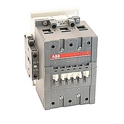3 pole, 160 amp, non-reversing across the line contactor with 208V AC coil and 1 NO and 1 NC auxiliary contacts