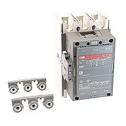 3 pole, 350 amp, non-reversing across the line contactor with 400-415V AC coil and 1 NO and 1 NC auxiliary contacts