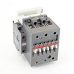 3 pole, 70 amp, general purpose rated, UA 75 capacitive switching contactor with a 110-120V AC rated coil and 1 NO and 1 NC auxiliary contacts