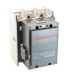 3 pole, 750 amp, non-reversing across the line contactor with 48-130V AC/DC coil and 1 NO and 1 NC auxiliary contacts
