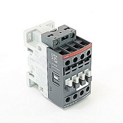 3 pole, 30 amp, non-reversing across the line contactor with 100-250V AC/DC coil and 1 NO auxiliary contacts