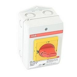 pôle 3, 32 a évalué à 600 V AC, UL 508, enfermé non thermocollant sectionneur dans un boîtier en plastique de UL/NEMA 3R/12