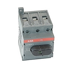 3 pole, 80 amps rated at 600 V AC, UL 508, open non-fusible disconnect switch