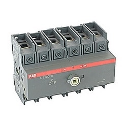 6 pole, 100 amps rated at 600 V AC, UL 98, open non-fusible disconnect switch