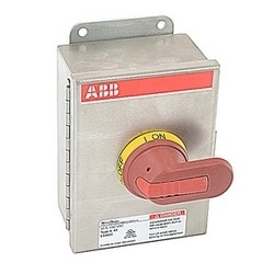 3 pole, 32 amps rated at 600 V AC, UL 98, enclosed non-fusible disconnect switch in a UL/NEMA 4X stainless enclosure
