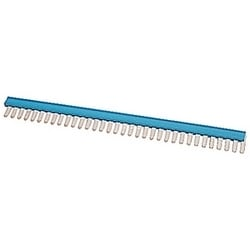 34 pole, blue, comb type jumper bar with 5mm spacing