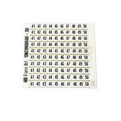 RC55 Bornier marqueur : 41 à 50 (10 bandes), Horizontal