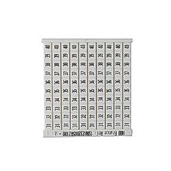 RC65 Terminal Block Marker: 31 to 40 (10 Strips), Horizontal
