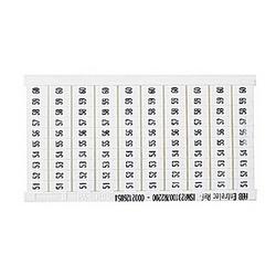 RC510 Bornier marqueur : 51 à 60 (10 bandes), Horizontal