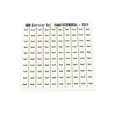 RC65 TERMINAL BLOCK MARKERS PRE-PRINTED MARKER HORIZONTAL 100 X 3
